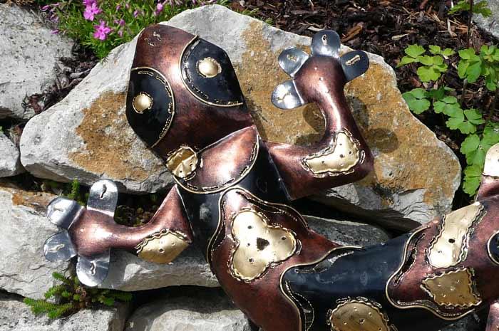 Wanddeko neu eidechse gecko metall riesig mix color 80 cm - Wanddeko eidechse ...